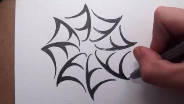 Spider Web Tattoo On Biceps photo - 1