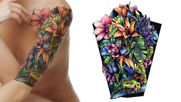 Stunning Flowers Tattoo Designs photo - 1
