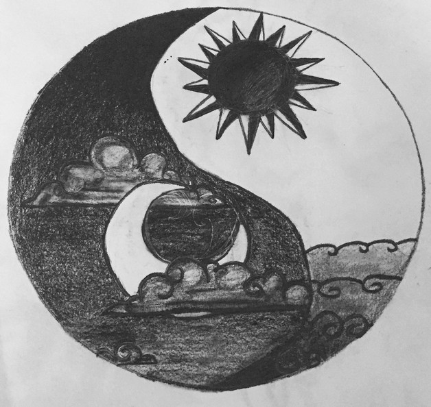 Sun And Moon Yin Yang Tattoo