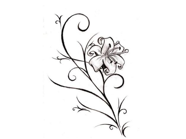 Superb Flower Tattoo Design photo - 1