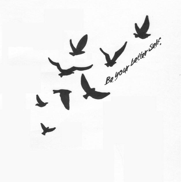 Swallow Bird Hand Tattoo Design photo - 1