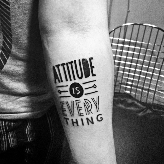 Text Tattoo On Biceps For Men photo - 1