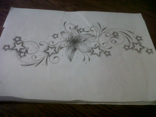 Tiger And Flowers Tattoo Designs For Lower Back photo - 1