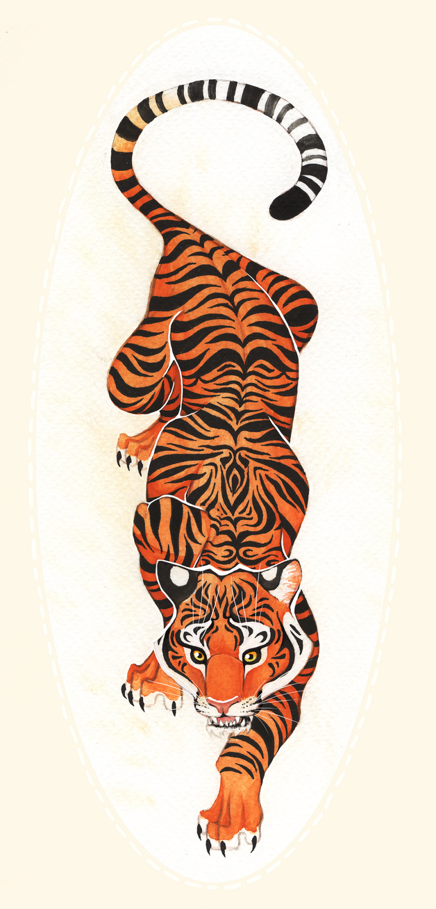 Tiger Japanese Tattoo Design photo - 1