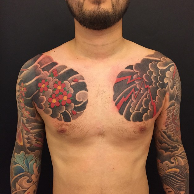 Traditional Tiger Tattoo For Chest