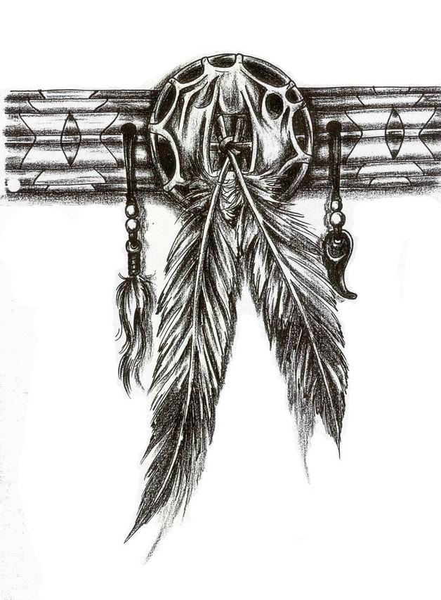 Tribal Warrior Indian Eagle Tattoo photo - 1