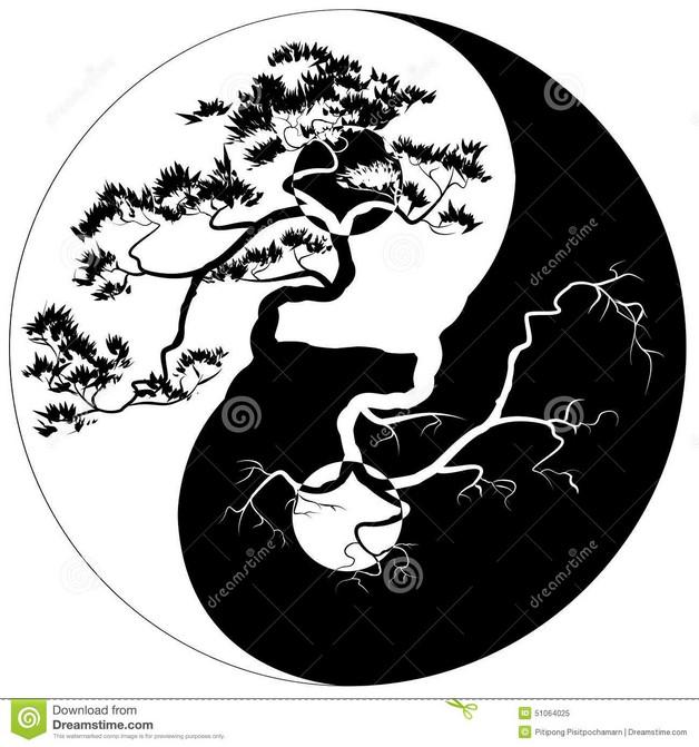 Tribal Ying Yang Tattoo Photo photo - 1