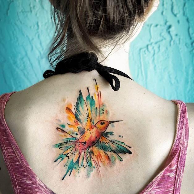 Unique Hummingbird Tattoo Design photo - 1