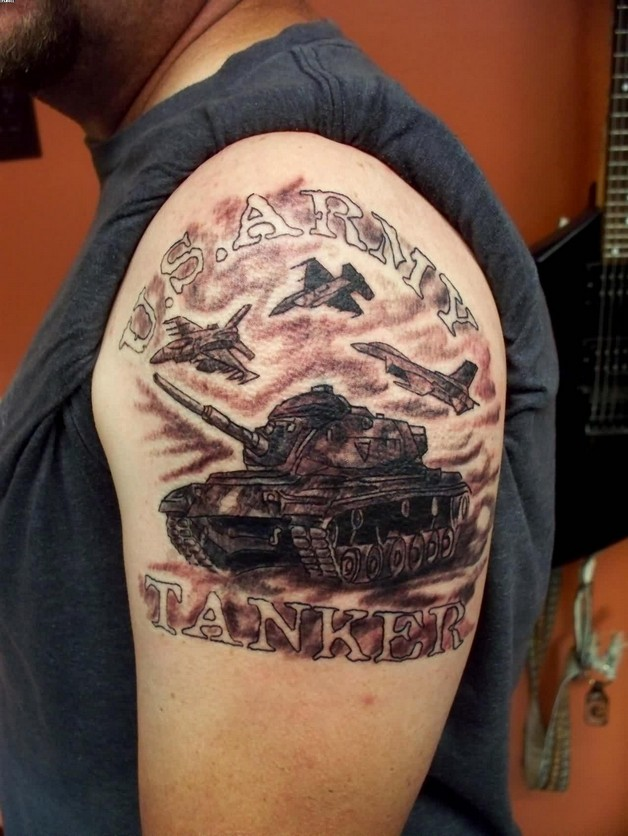 Usmc Army Tattoo On Biceps For Men photo - 1