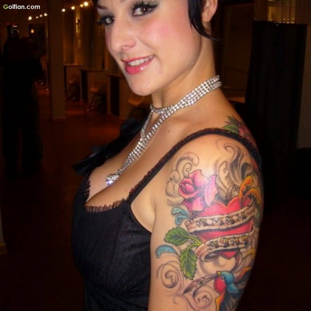Very Lovely Pin Up Girl Tattoo On Arm photo - 1