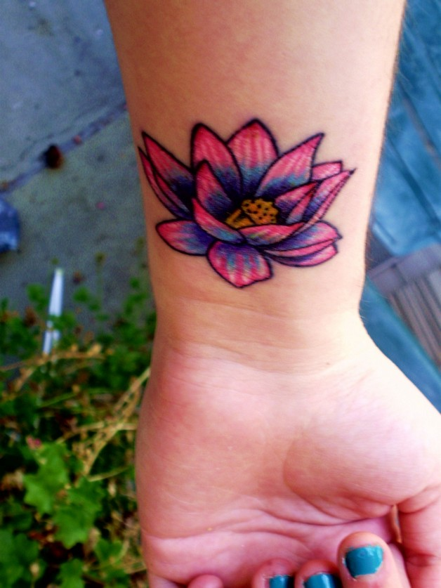 Very Small Flower Tattoo On Side For Women photo - 1