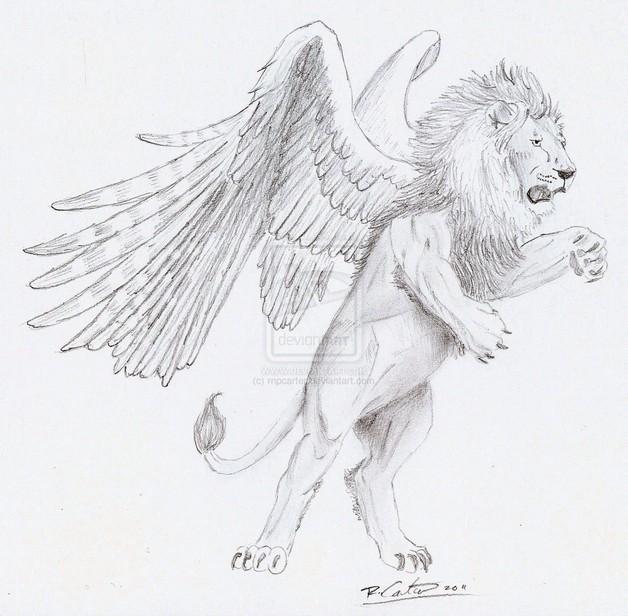 Winged Diamond Tattoo Drawing photo - 1