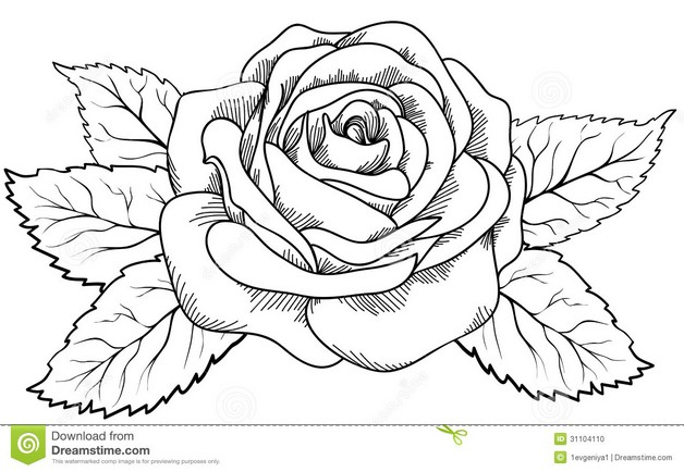 Without Color Floral Tattoo Design photo - 1