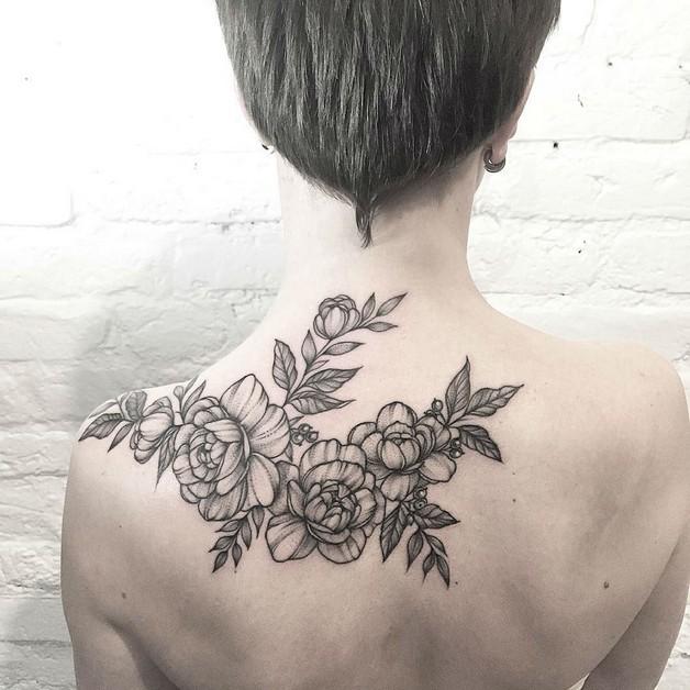Wonderful Floral Tattoo Design photo - 1