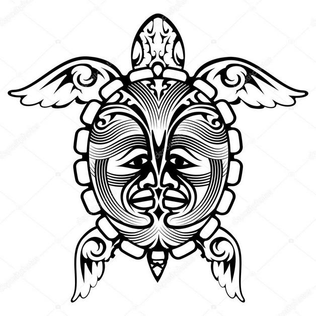 Yin Yang Turtle Tattoo Stencil photo - 1