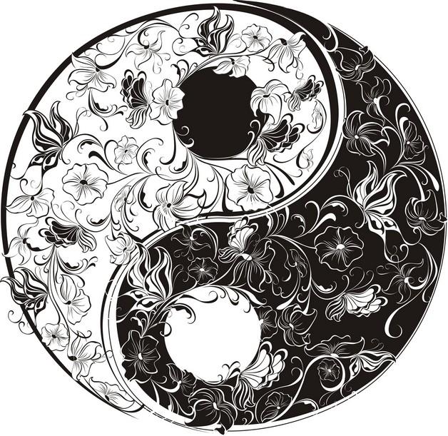 Ying Yang Ocean Sun Tattoo Design photo - 1