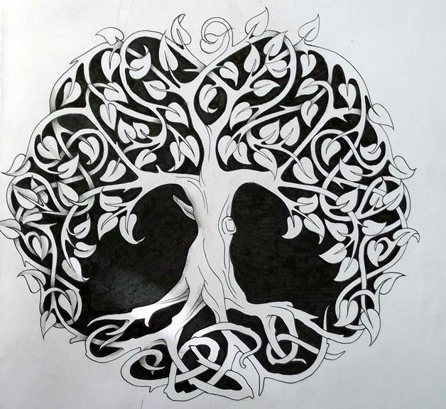 Ying Yang Tattoo Black White Human Skull Design Symbol Of Life And Death