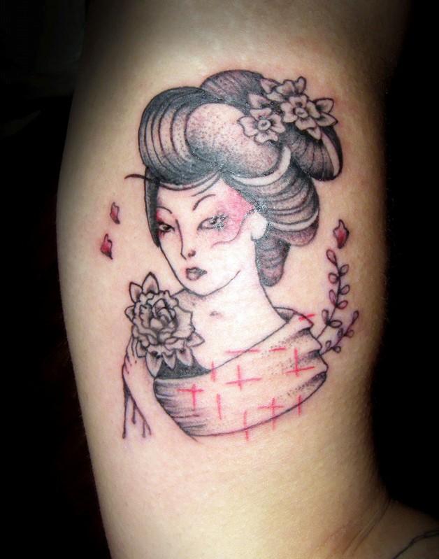 Yo Ho Ho Bottle And Star Tattoos On Lower Arm photo - 1
