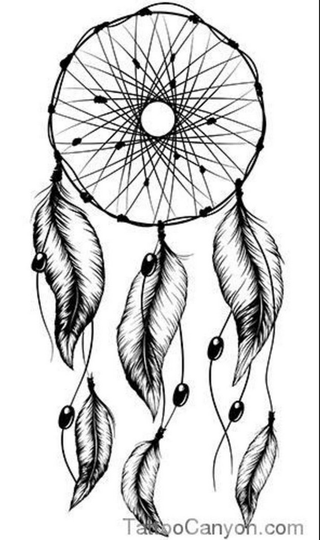 dreamcatcher tattoo template again dream catcher tattoo stencil