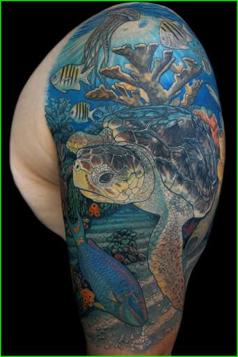 aqua stars tattoo design photo - 2