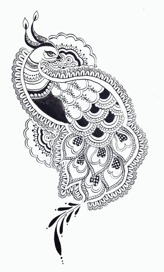 arabic tribal tattoo photo - 1
