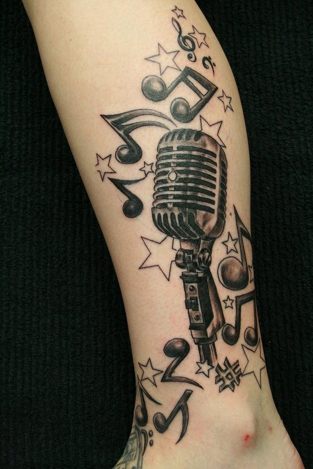 Attractive music and star symbol tattoos all tattoos for men biocorpaavc