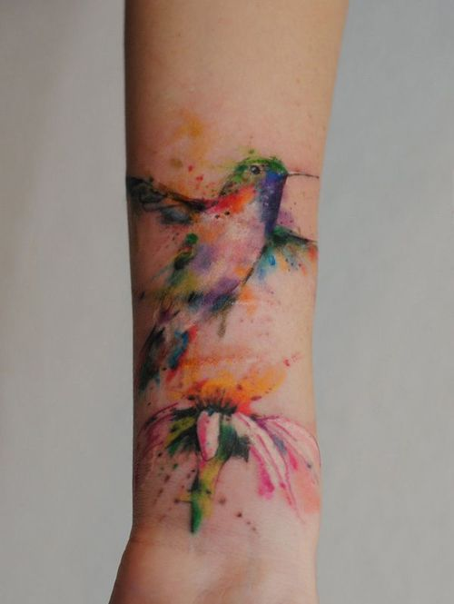 awesome butterfly with flowers tattoo photo - 2