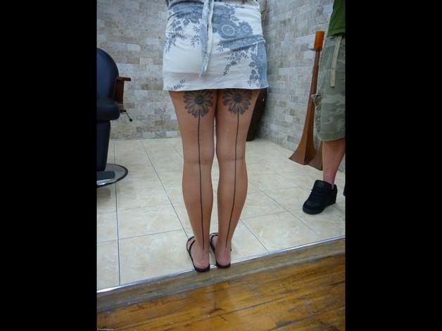 back legs sunflower tattoos photo - 1