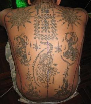 big buddhist tattoo on back photo - 2