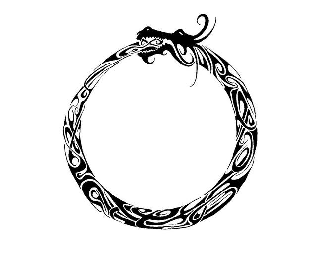 black anchor arabic tattoo design photo - 1