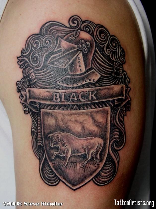 black cat tattoo on back photo - 1