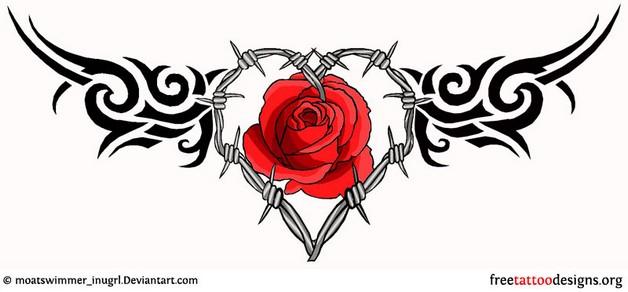 black kokopelli with flowers tattoo design photo - 2
