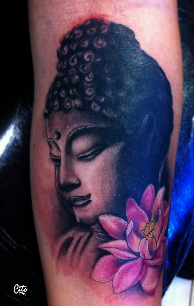 buddhist girl tattoo photo - 1