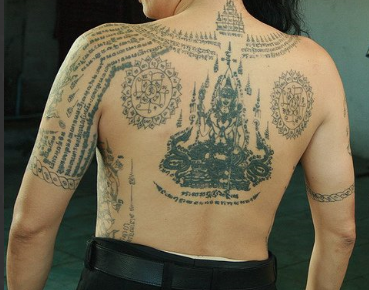 buddhist mantra tattoo picture photo - 1