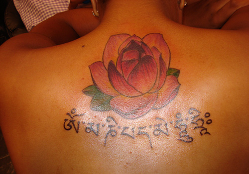 buddhist mantra tattoo picture photo - 2