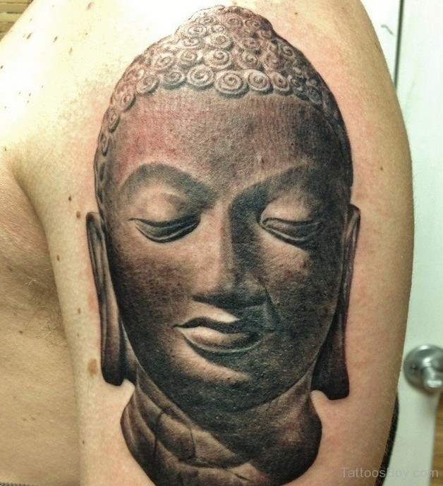 buddhist tattoo design on shoulder photo - 2