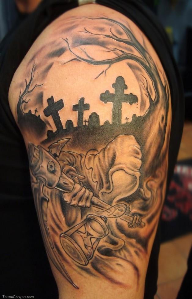 celtic dog leg tattoo design photo - 1