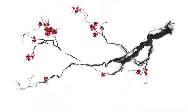 cherry blossom flowers tattoo on back photo - 2