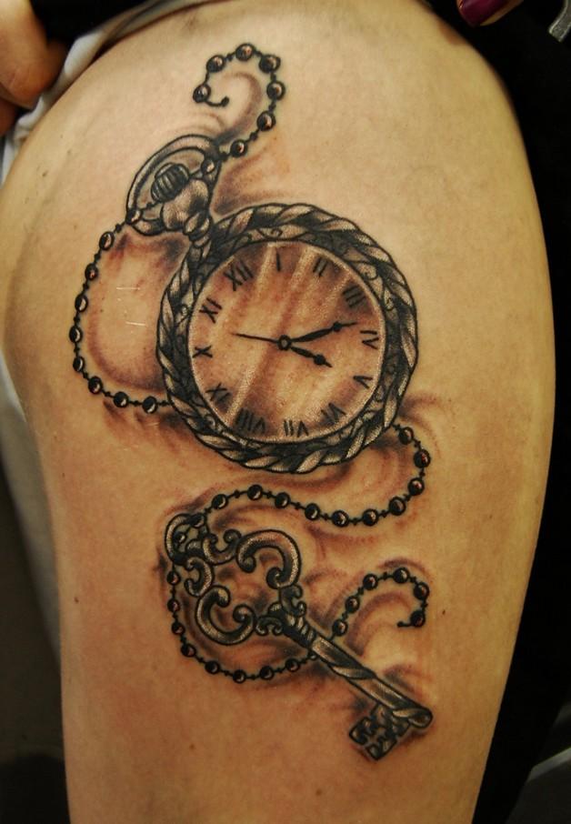 colorful feminine tattoos on both sleeves photo - 1