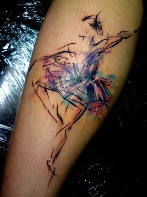 colorful moon tattoo with star photo - 2
