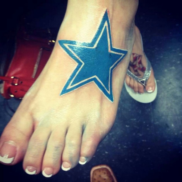 cowboys star tattoo on leg photo - 1