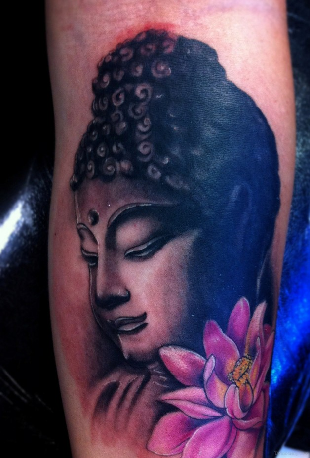 cute buddhist tattoo design photo - 1