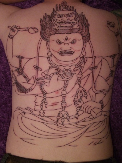 cute buddhist tattoo design photo - 2