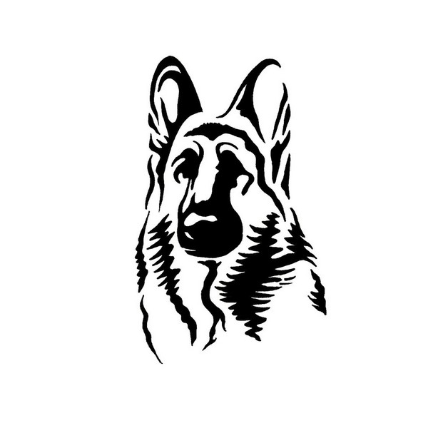 dog tribal tattoo stencil photo - 1
