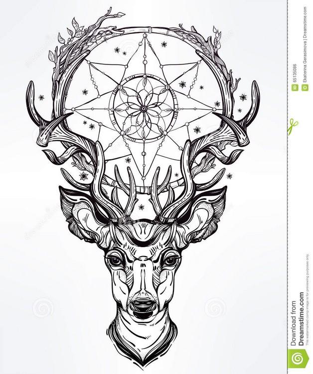 how to draw a dreamcatcher tattoo