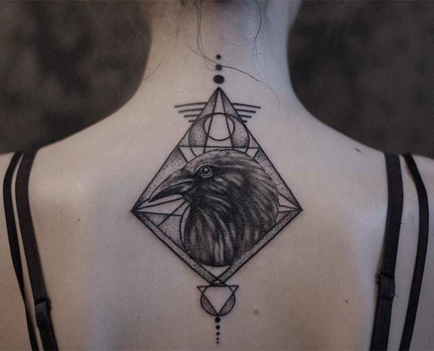 dream catcher tattoo on neck back photo - 2