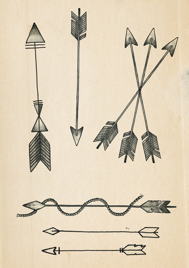 Dreamcatcher and crossed arrow tattoos for Crossed arrow tattoo
