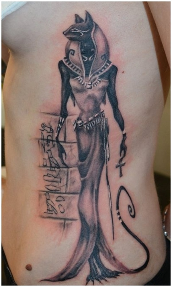 egyptian cat tattoo design photo - 1