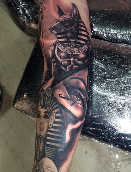 egyptian cat tattoo design photo - 2