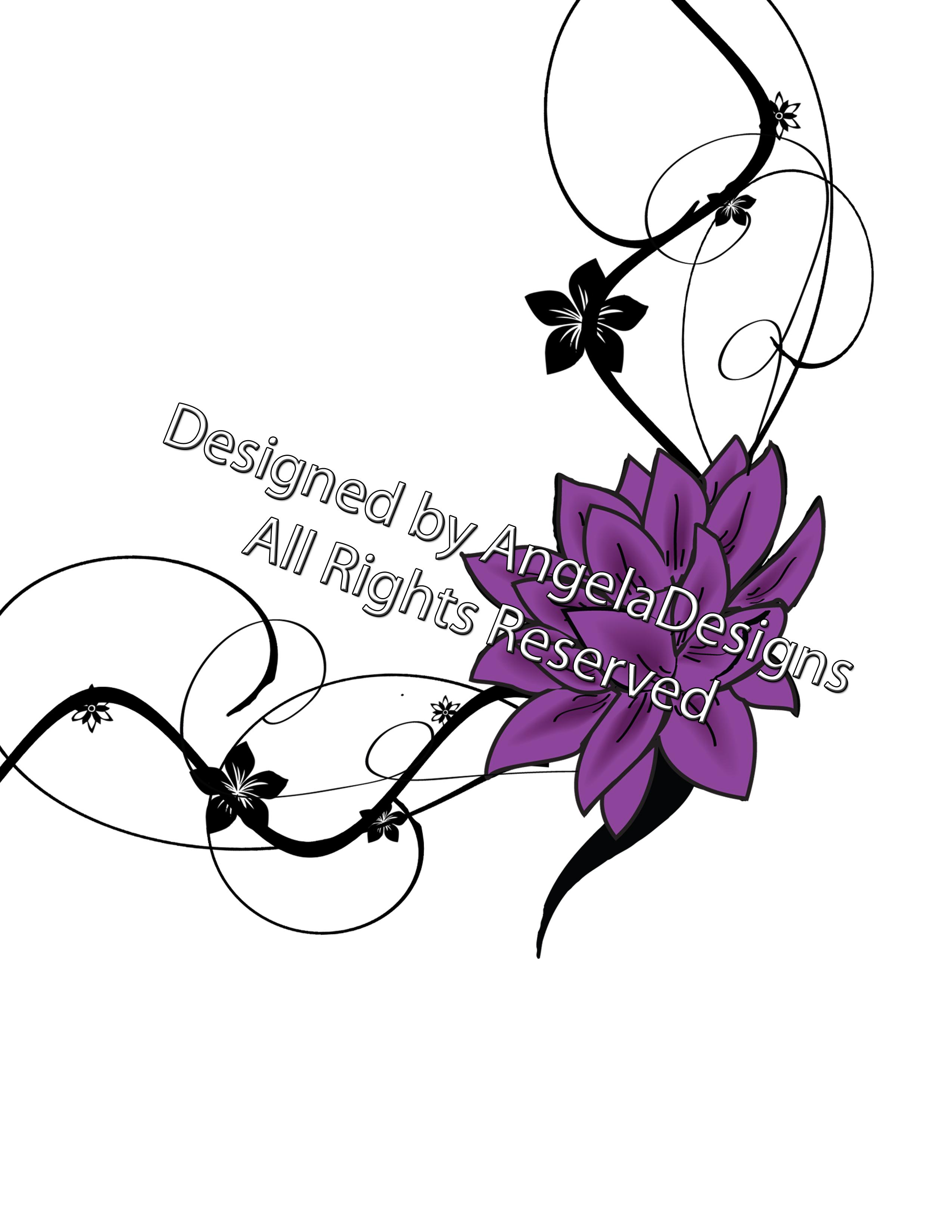 elegant flowers tattoo designs photo - 2